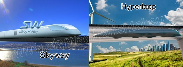 Skyway húrvasút kontra Hyperloop