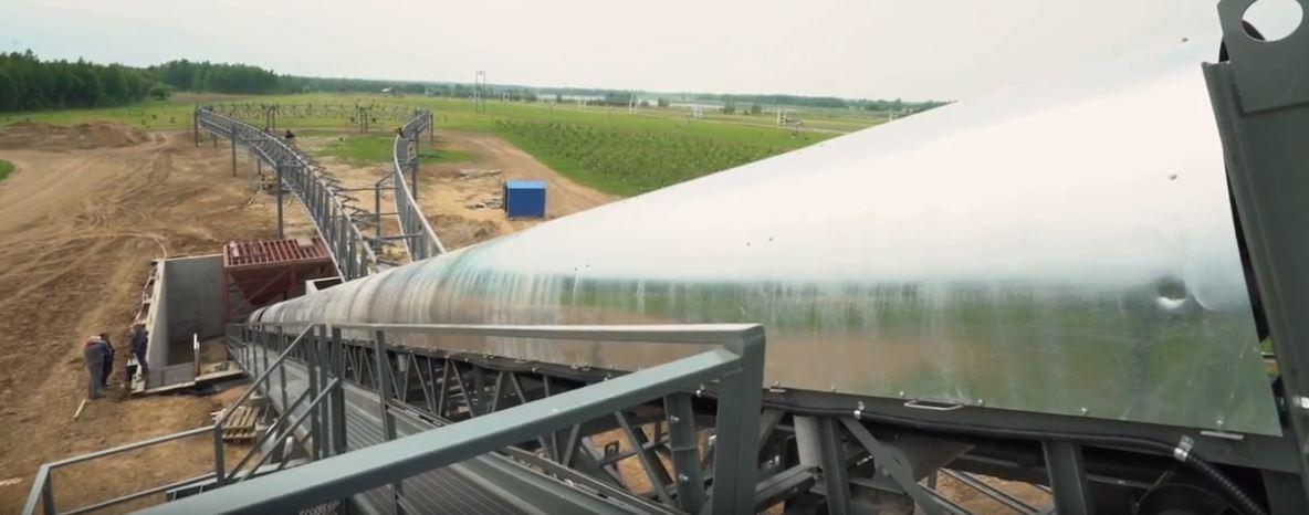 Az EcoTechnoPark teherszállítási pályájának építése befejezéshez közeledik.