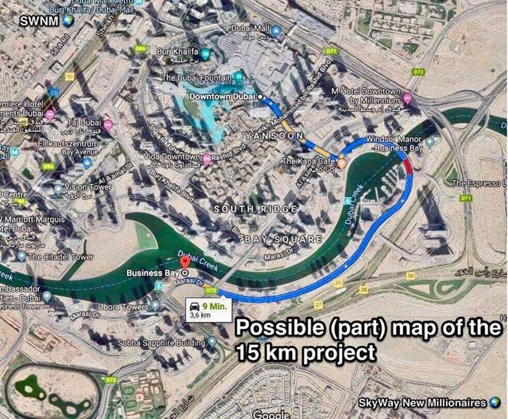 Első Sky Way pálya Dubaiban épül meg jóváhagyták a megépítését