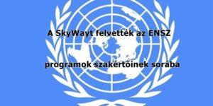 A SkyWayt felvették az ENSZ programok szakértőinek sorába